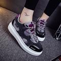 La entrega libre de 2017 nueva dama de la moda de marca zapatos de moda, la superficie neta transpirable zapatos de los holgazanes tamaño A21