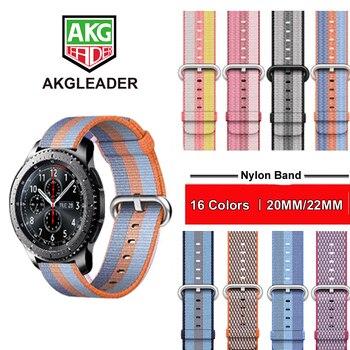 ¡Novedad! correa de reloj de nailon de 20mm o 22mm para Samsung Galaxy Watch 42mm 46mm Gear S3 Classic Frontier S2 para Huami amazfit 1 2