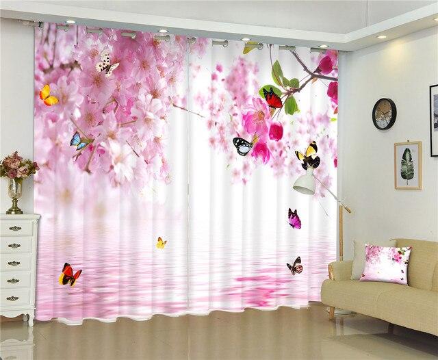 Papillon fleurs imprimer d rideaux rideaux pour salon chambre