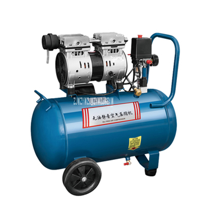 Q1E-FF02-1824 Air Compressor Inflatable Pump Painting Woodworking Household Small Silent Oil-free Air Compressor 220V 750W 24L