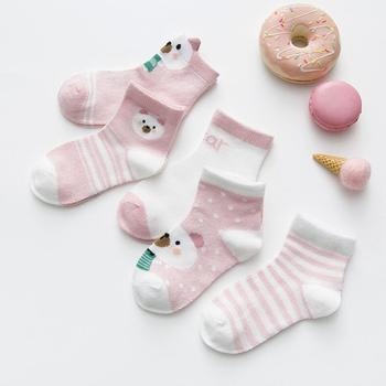 0-3Y 5 Pairs/lot Infant Baby Socks Cute Summer Breathable Mesh Sock Cotton Newborn Boys Girls Short Socks - N, 6M