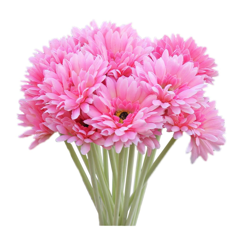Wedding Flowers For Bridal Party: 10 PCS Artificial Silk Gerbera Daisy Flower Wedding Party