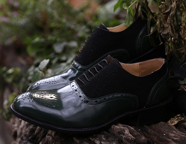 COSIDRAM Pointed Toe Men Dress Shoes Handmade Dress Leather Oxfords Formal Shoes For Male 2018 Spring 47 48 BRM-080