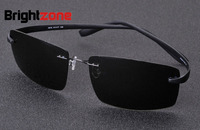 Hoogste kwaliteit Nieuwe beste mannen Ultralight Randloze Zonnebril Vrouwen Merk Designer Zonnebril Mannen Rijden Titanium Zonnebril
