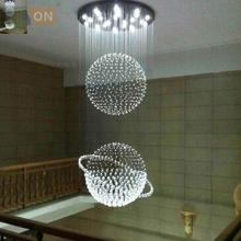 Светодиодный g10 современный кристаллический Глобус светодиодный светильник из нержавеющей стали. Светодиодный светильник. Потолочные светильники. Светодиодный потолочный светильник. Потолочный светильник для лестницы для гостиной