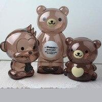 Cartoon piggy bank piggy bank plastic transparent piggy bank paper coin creative cute money jar children gift