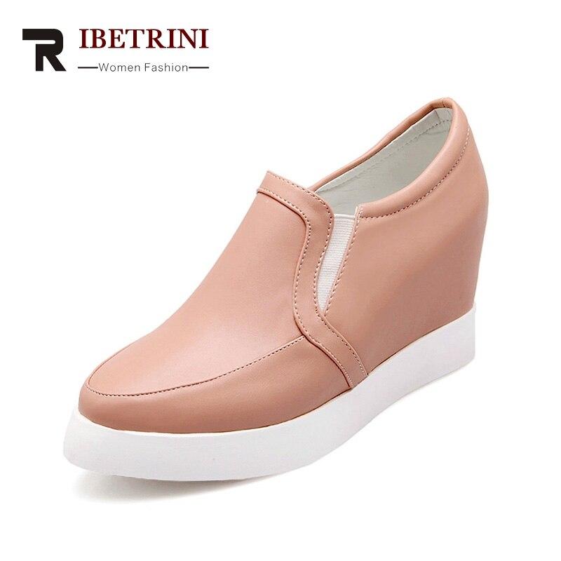 Chaussures Femme Femmes Doux Mode Appartements Printemps Noir Confortable 34 Casual 43 blanc Taille Loisirs Ribetrini Grande rose Filles qBx0fARfw