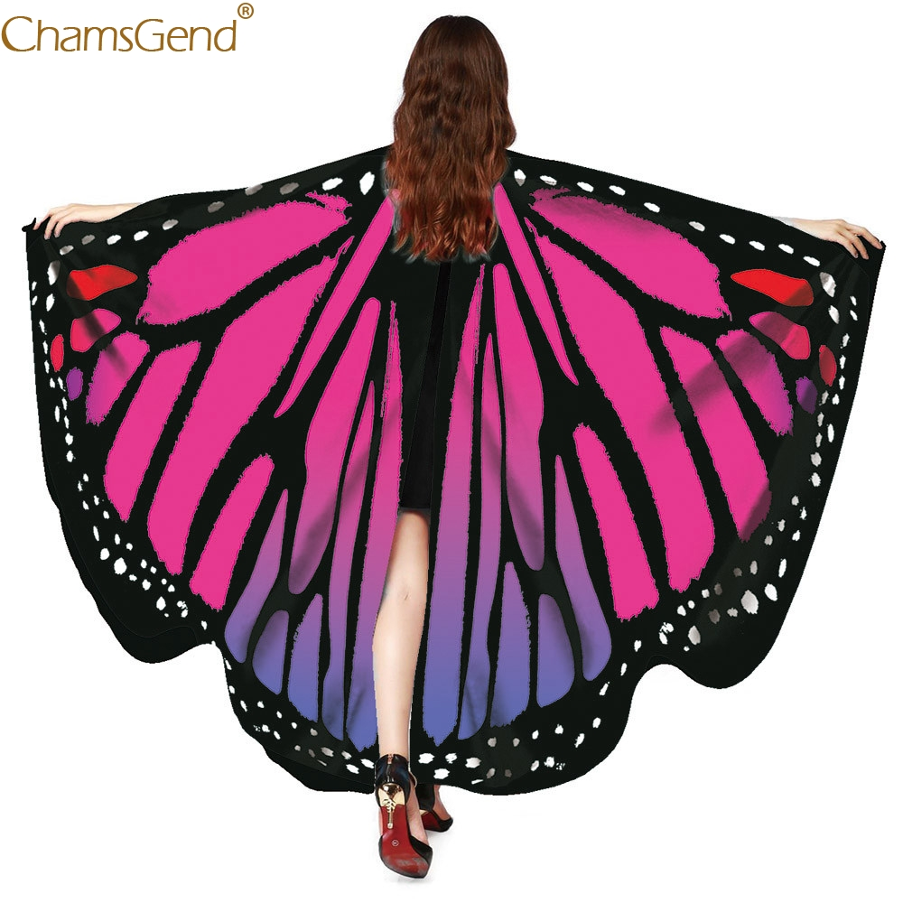 Multicolor shawls women shawls and poncho Butterfly Wings Shawl Scarves Ladies african women shawls Costume Accessory Mar11|Holidays Costumes|   - AliExpress