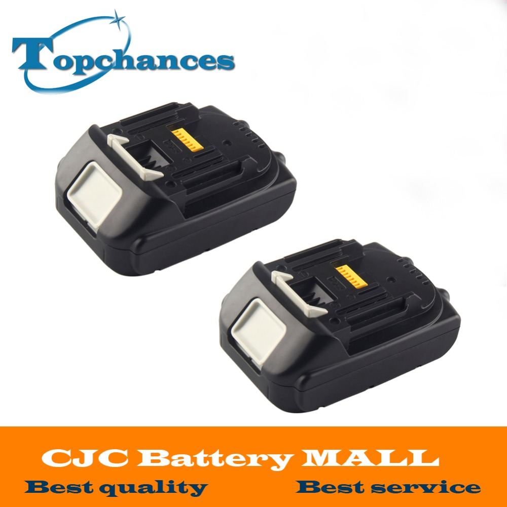 2X High Quality 18V 2000mAh Rechargeable Li-ion Replacement Power Tool Battery for Makita BL1830 BL1840 LXT400 BL1815 194230-4 18v 6000mah rechargeable battery built in sony 18650 vtc6 li ion batteries replacement power tool battery for makita bl1860