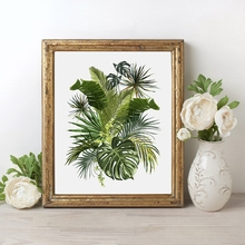Vintage Tropical Plants Wall Paintings