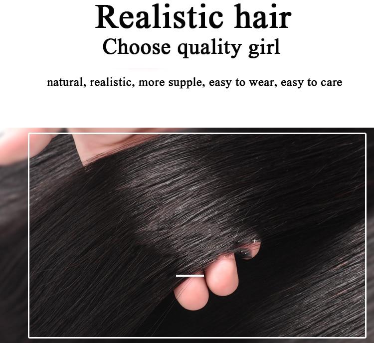 Mumupi toupee com franja material de cabelo