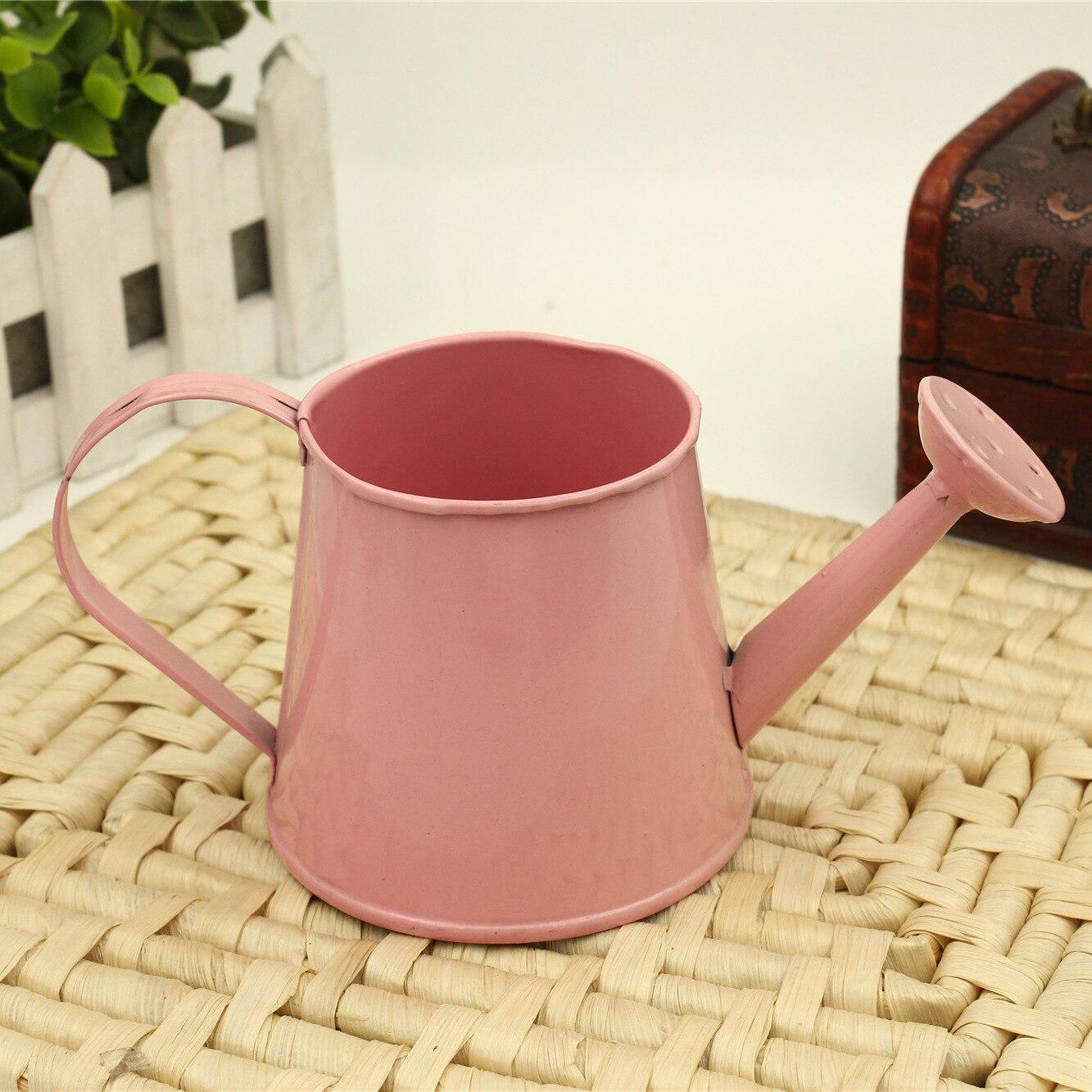 3Pcs pastoralen Stil bunte Metall Zinn Blumentopf Mini Bonsai Gießkanne