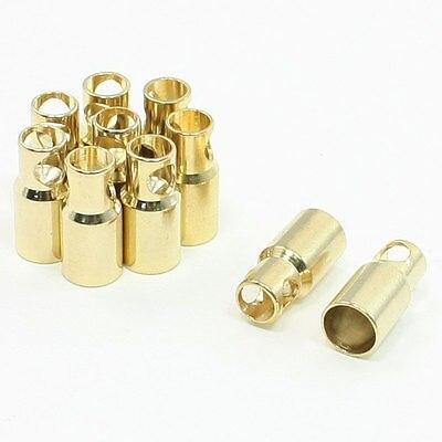 RC Bullet 6mm Inside Dia Female Plug Bullet Connector 10 Pcs bullet park