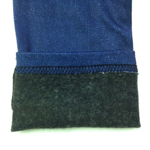 Image 5 - Dropship Leggings Jeans for Women Winter Denim Pants Plus Velvet Warm With Pocket Slim Jeggings Fitness Plus Size Leggins Pant