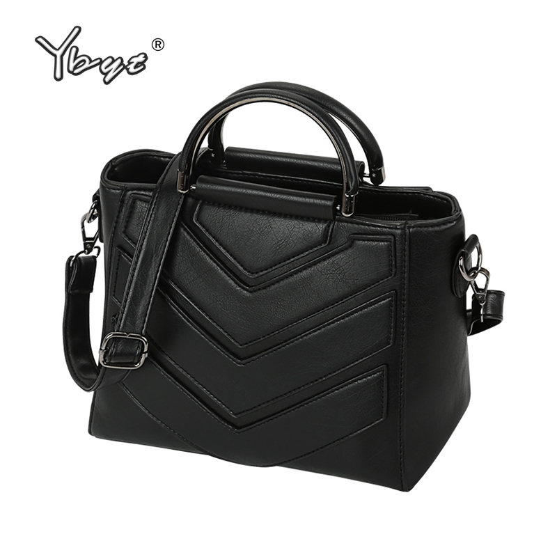 YBYT brand 2018 women casual handbags trapeze totes small satchels female shopping bag ladies shoulder messenger crossbody bags