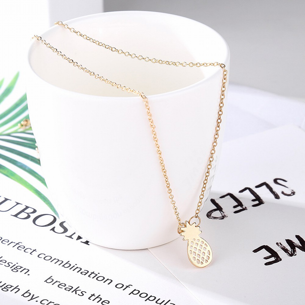 Pineapple Necklace Gold & SIlver 2