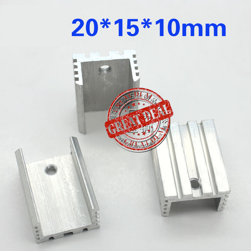 Free Shipping Wholesale 100PCS To220 Heatsink 20*15*10mm 7805 Heatsink U Shaped Transistor Radiator