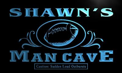 x0092-tm Shawns Man Cave Football End Zone Custom Personalized Name Neon Sign Wholesale Dropshipping On/Off Switch 7 Colors DHL