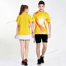 Фотография Adsmoney badminton suit man/women table tennis jersey clothes breathable quick dry short sleeved sportswear fitness Sport wear