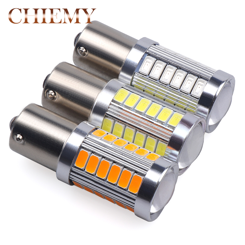 цена на 1x S25 P21/5W 1157 BAY15D 1156 BA15S 5630 33 SMD 5730 LED Car Brake Lights Tail Lamps Auto Led Bulb Light Red Yellow White DC12V
