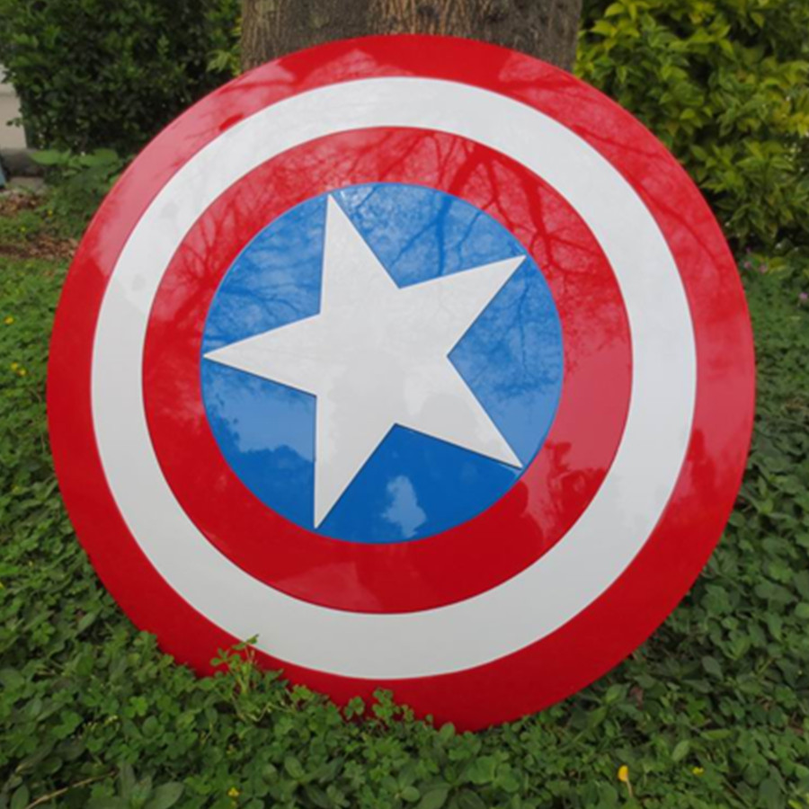 HOT Avengers Civil War Captain America 57CM Shield 1:1 Cosplay Steve Rogers ABS model adult shield replica captain america 3 civil war statue captain america 1 1 bust life size avengers steven rogers sculpture resin model toy w233