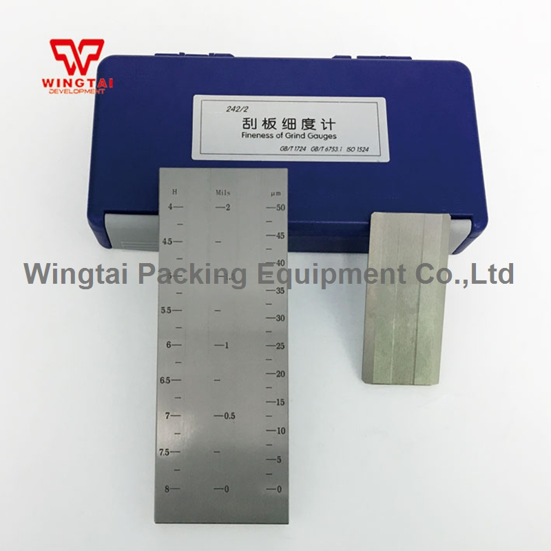 BGD242/2 (0 50um) двойной паз Stainess Сталь тонкость Hegman датчик для покрытия, пластиковые