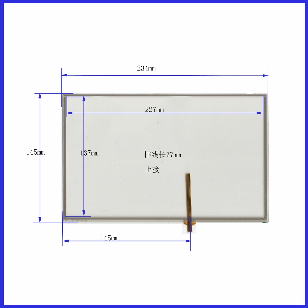 ZhiYuSun AT 462 A1 10.4  inch Touch Screen Glass 235mm*145mm 4 wire resistive Touch Panel    FOR  TABLE for laptop 235*145 new 10 1 inch 4 wire resistive touch screen panel for 10inch b101aw03 235 143mm screen touch panel glass free shipping