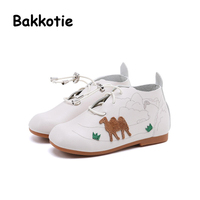Bakkotie 2017 Autumn Baby Girl Fashion Shoe For Children Boots Red Cartoon Pattern Camel Black Ankle