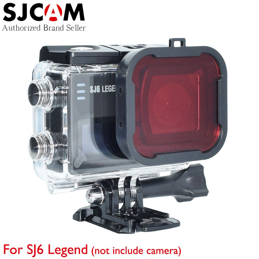 SJCAM SJ6 Diving Filter Waterproof Case Lens Protective Cover Underwater Accessories for SJ 6 Legend 4K Wifi Sport Action Camera экшн камера sjcam sj6 legend uhd 4k wifi розовый [sj6legend rosegold]