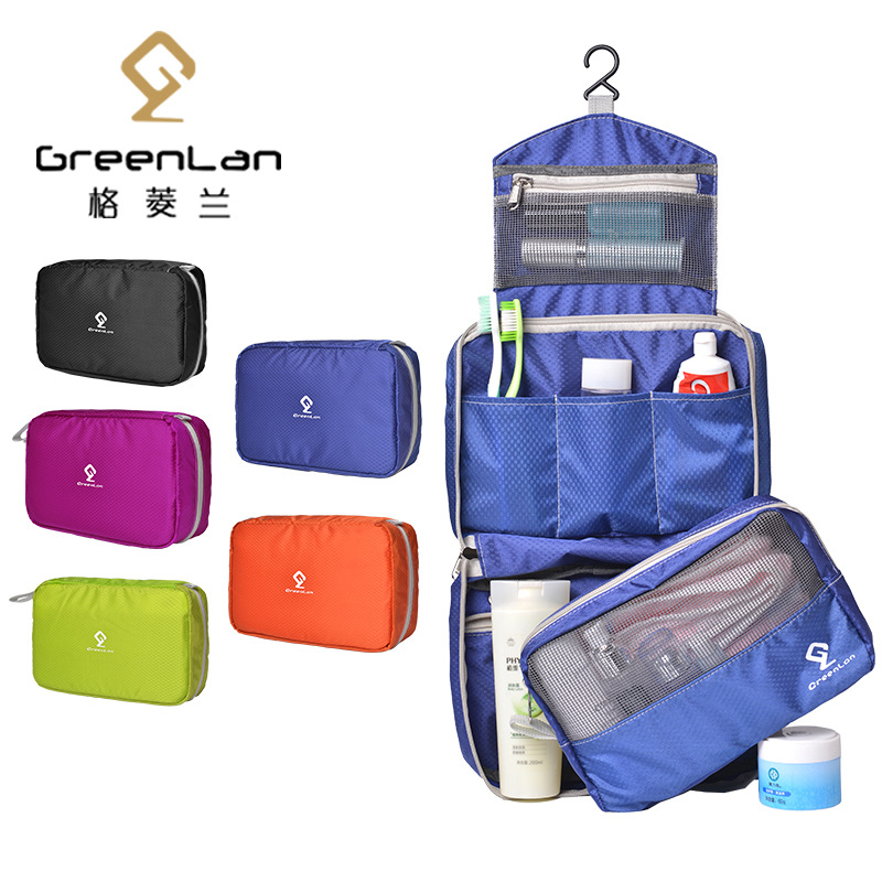 Big Cosmetic Bag Makeup Nylon Travel Organizer Cosmetic Bag Female Waterproof Portable Travel Male Wash Bag Wash Toiletry Case