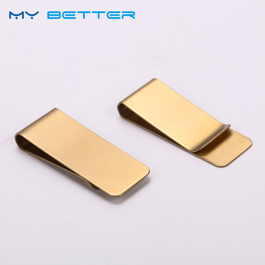 1PC Thin Section Brass Money Clip Cash Clamp Holder Portable Money Clip Wallet Purse For Pocket Metal Money Holder
