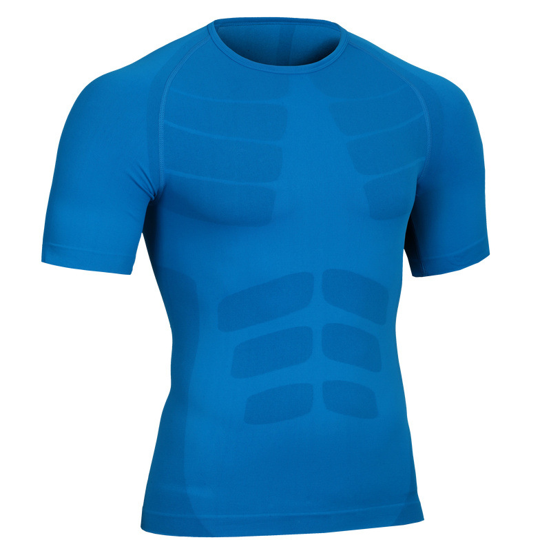 GANYANR Brand Running T Shirt Men Sportswear Sports Fitness Basketball Tennis Compression Gym Jogging Tops Slim Fit Quick Dry in Running T Shirts from Sports Entertainment