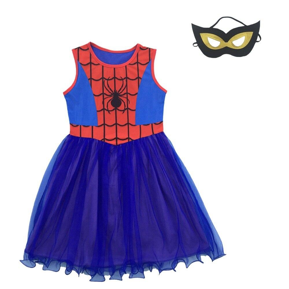 Костюм Человека-паука для девочек, детское платье для костюмированной вечеринки «Человек-паук», Рождественский костюм для детей, нарядная ...