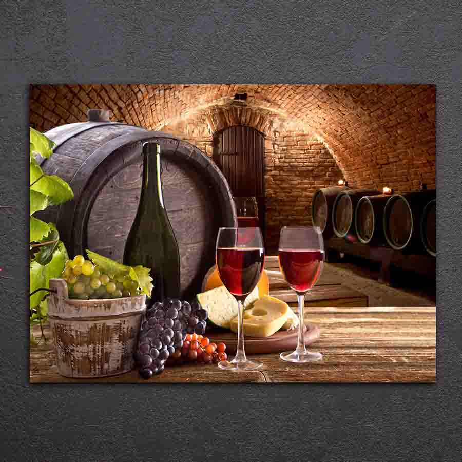 1 Pieces Grapes Wine Drink Canvas Paintings HD Printed
