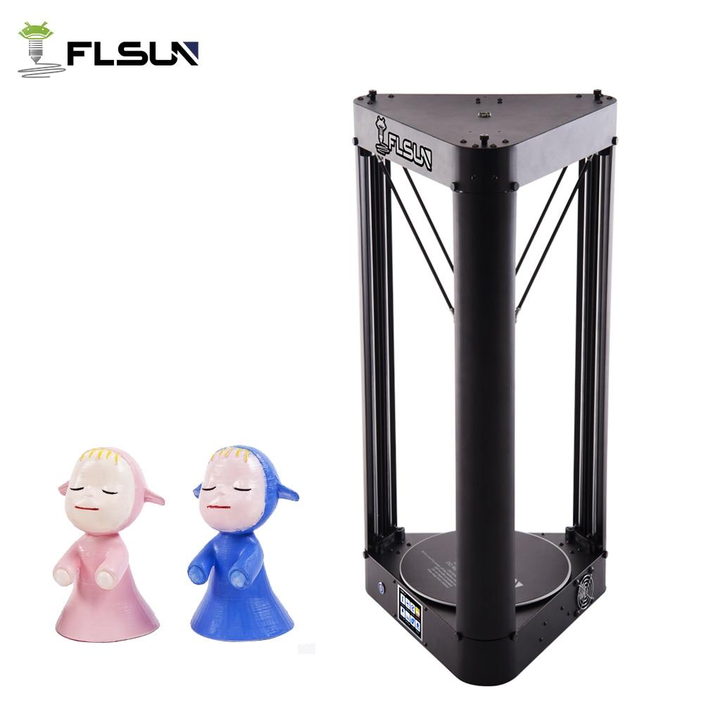 2018 Flsun-QQ Delta Kossel 3D Stampante Touch Screen Wifi Modulo di Zona di Grandi Dimensioni di Stampa 260*260*370 mm, un rotolo di filo come regalo