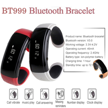 Hot BT999 Bluetooth Bracelet watch Smart Bracelet Wrist Watch Anti lost Answer call Passometer For Android Phone watch men women