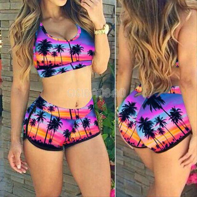 2017 Cheap Offer Hot Sexy Biquini Thong High Neck Swim Bathing Suit Plus Size Swimwear Women Brazilian Bikini Push Up Swimsuit