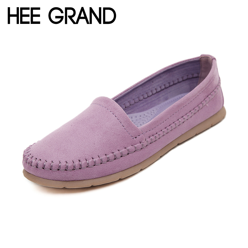 HEE GRAND Women s Flats 2016 Soft Flock Loafers Slip on Breathable Flats Spring Pregnant Women