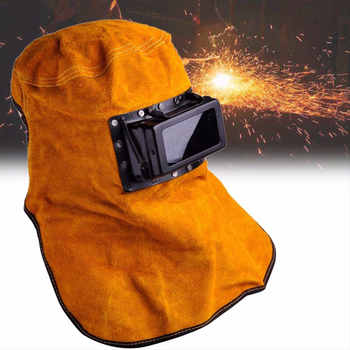 Welding Helmet Cowhide Convenient Protect Welder Mask Arc Tig Mig Yellow Drop Shipping - DISCOUNT ITEM  10% OFF All Category