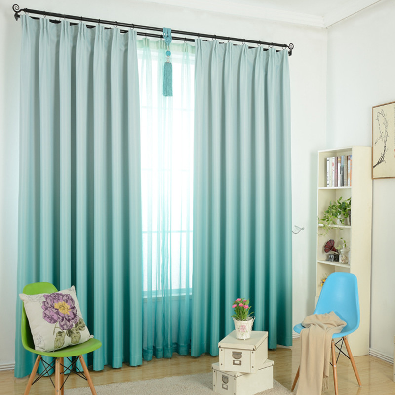 Cool Modern Gra nt Blackout Curtains for Living Room Violet Curtain Solid Pink Window Tulle Curtain Shading Bedroom Cortina 30 in Curtains from Home & Garden Contemporary - Contemporary blue bedroom curtains Model