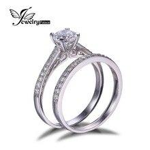 Кубический годовщина пасьянс цирконий jewelrypalace обручальное свадьбы свадебный стерлингового серебра изделий