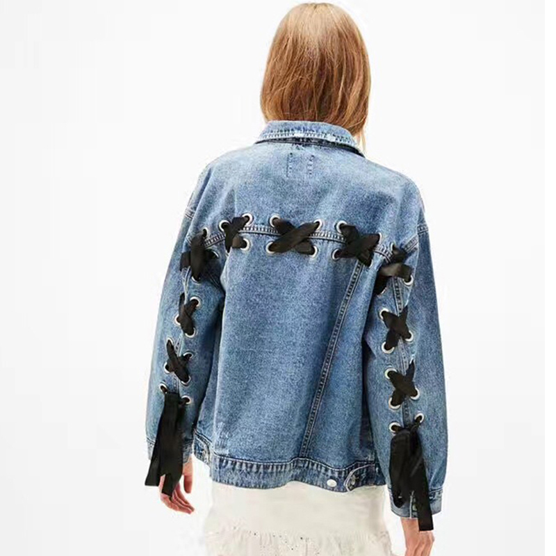 2019 Spring new denim   Basic     jackets   women loose Design long sleeve jean   jacket   Coats Plus Size Boyfriend Outerwear Z261