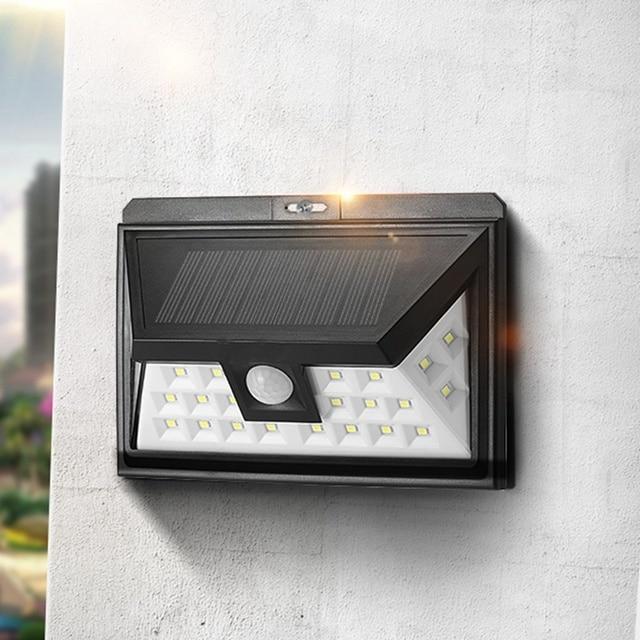 solar power 24 led solar light waterproof pir motion sensor light