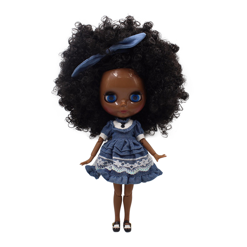 Glück tage fabrik blyth puppe super schwarz haut ton darkest haut schwarz haar joint körper 1/6 30cm BL9103-in Puppen aus Spielzeug und Hobbys bei  Gruppe 1