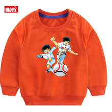 New Boys Cute Music Cotton Long Sleeve Pullover tops animal for Children Japanese Anime Fashion Cartoon Casual T-shirt
