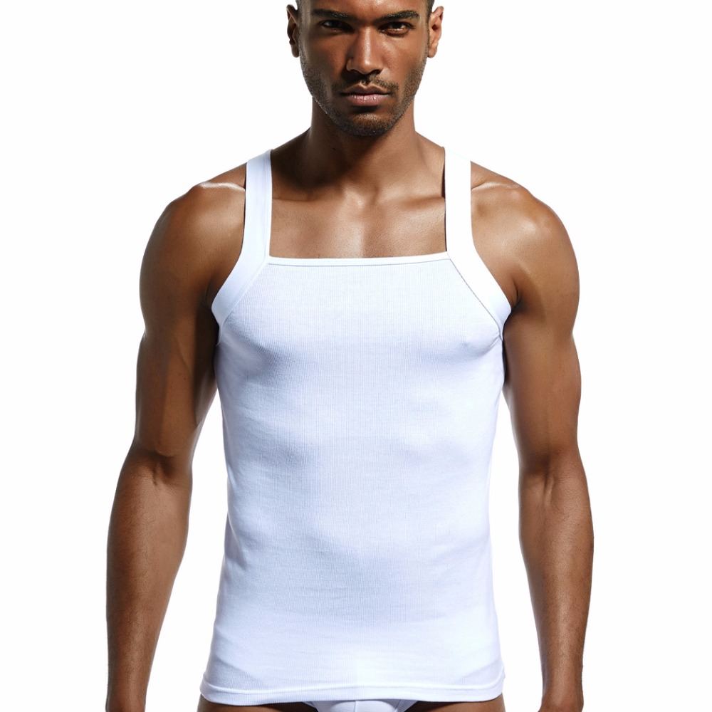 men's fashion vest cotton Tight tank top home sleep Casual Solid gay  Sexy Asian size Casual  sleeveless garment Body building
