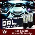 Senhor noite Para Camry Corolla REIZ Highlander Crown Prado Prius GRX130 LED DRL & Frente Sinais de Volta