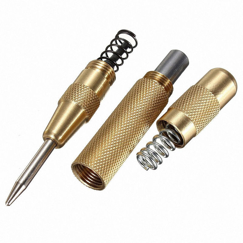1 Piece 5 Inch Automatic Center Pin Punch Spring Loaded Marking Starting Holes Tool VER41 P40  5 inch automatic center pin punch spring loaded marking starting holes tool woodworking herramientas center drill bit tools