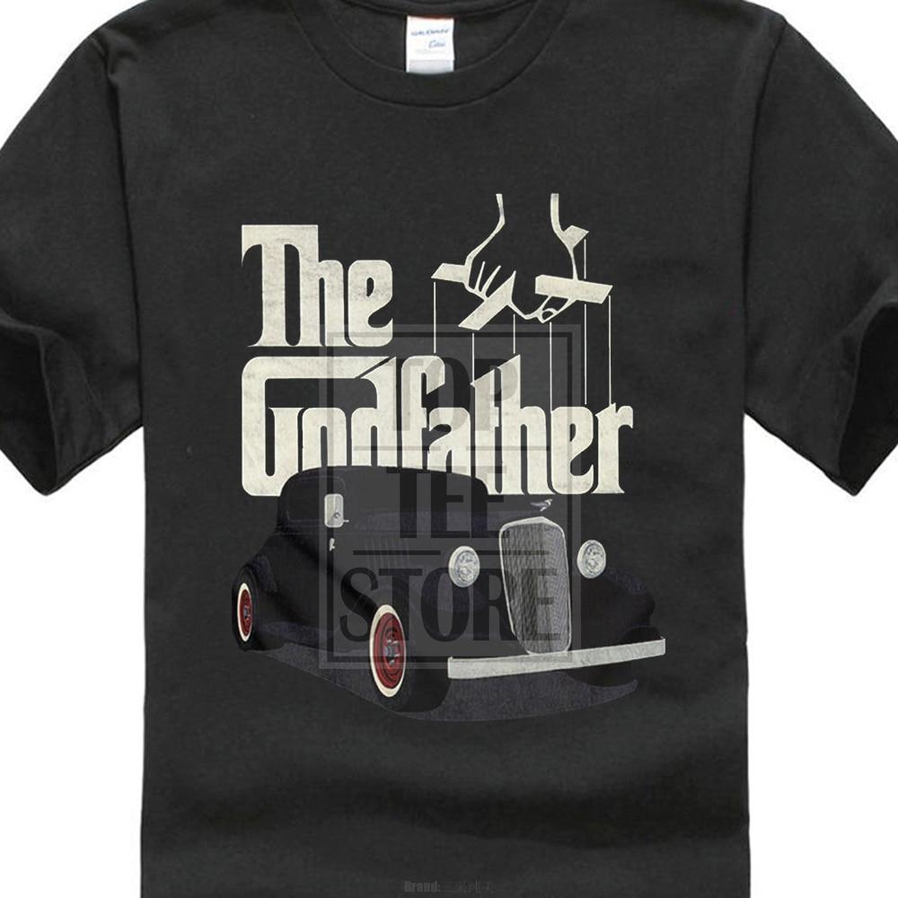 comfortable  Brand Men The Godfather Classic Car Logo T Shirt Movie Mafia Fan Merch Pacino Design Harajuku Cool Tops Men
