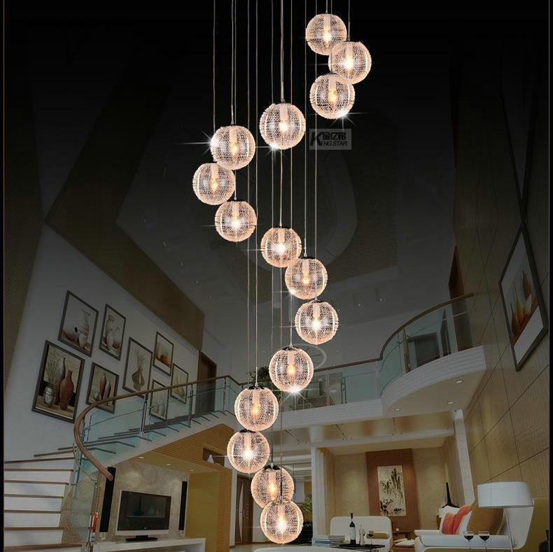 Designer modern  aluminium ball pendant chandelier dinning room living room lamp home decoration lighting free shipping